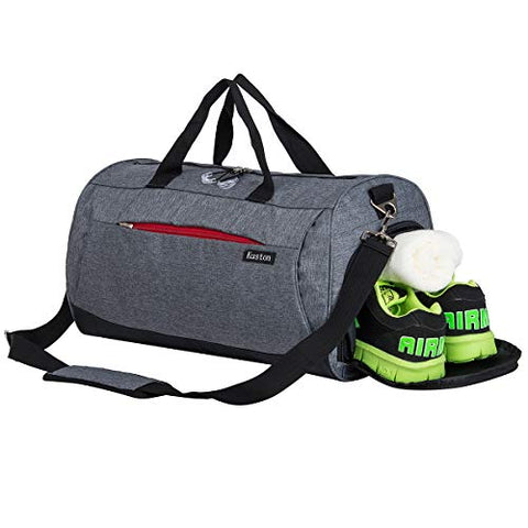 Sports Gym Bag With Shoes Compartment Travel Duffel Bag For Men And Women
