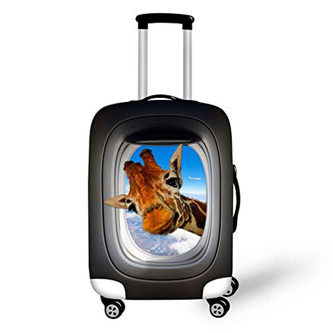 "Bigcardesigns 3D Giraffe Print Travel Suitcase Protector Trolley Case Cover 22""-24"" Sleeve"