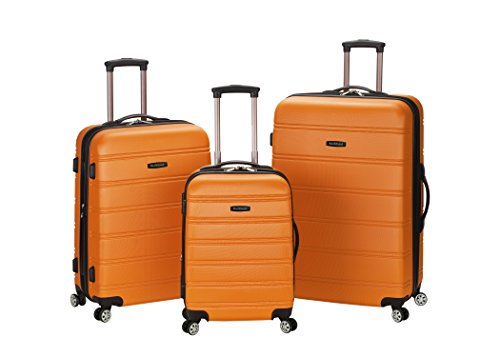 Rockland Luggage Melbourne 3 Piece  Set, Orange, Medium