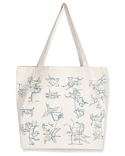 Cognitive Surplus Constellations Scientific Illustration Tote Bag (10 oz Recycled Cotton)