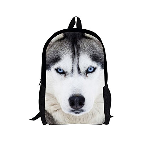 Bigcardesigns Husky Kids Backpack Schoolbag Book Bag Teenagers Satchel