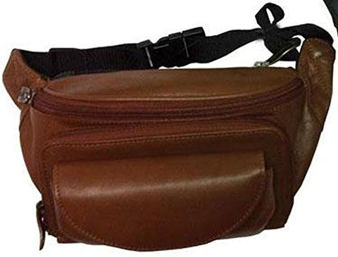 Winn International Harness Large Leather Fanny Pack In Black Faux Croc