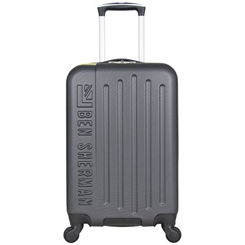 "Ben Sherman Leicester 20"" Hardside 4-Wheel Spinner Carry-on Luggage, Charcoal"