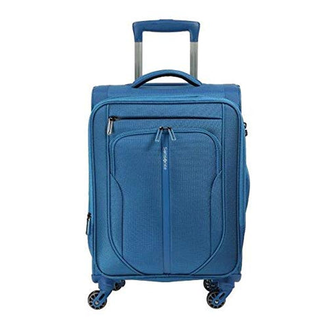 Samsonite Patrono Spinner Unisex Small Blue Polyester Luggage Bag 108104-1090