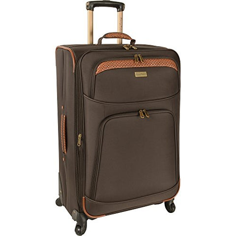 Tommy Bahama Santorini 28 Inch Expandable Spinner, Dark Brown/Cognac, One Size