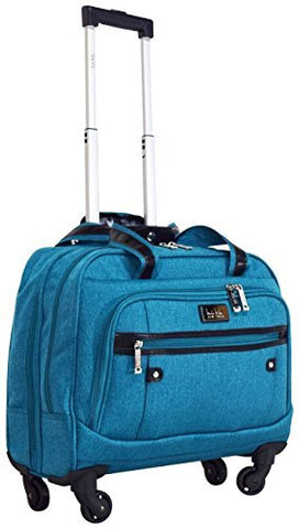 Nicole Miller New York Taylor Carry On Spinner Briefcase (Taylor Teal)