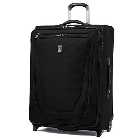 "Travelpro Luggage Crew 11 26"" Expandable Rollaboard Suitcase w/Suiter, Black"
