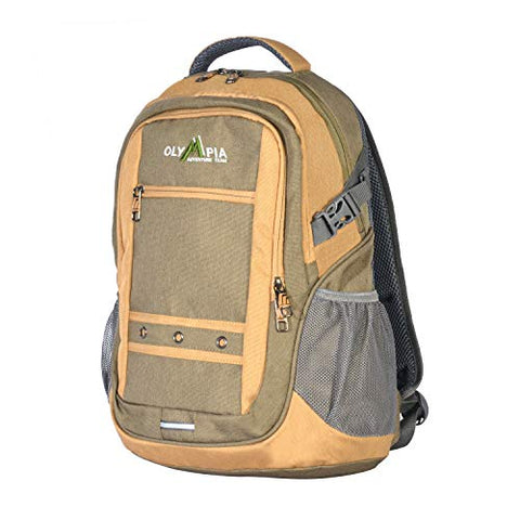 "Olympia USA Eagle 19"" Outdoor Backpack (25l), Green+Sand, One Size"
