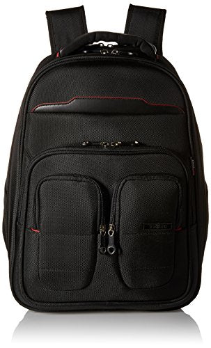 "Travelers Polo & Racquet Club Flex-File 19"" Checkpoint-Friendly Laptop Backpack, Black"