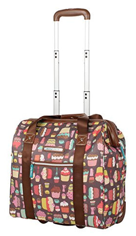 Lily Bloom Design Pattern Carry on Bag Wheeled Cabin Tote (Cupcake)
