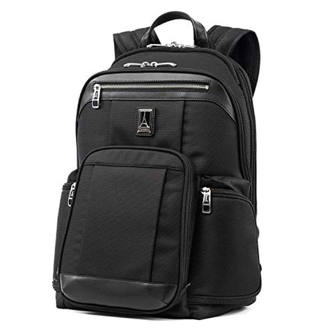 "Travelpro Luggage Platinum Elite 17.5"" Business Computer Backpack, Shadow Black, One Size"