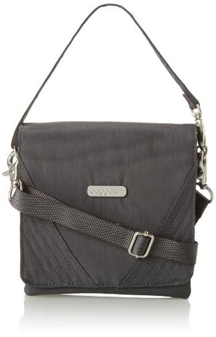 Baggallini Divide Crossbody, Charcoal, One Size