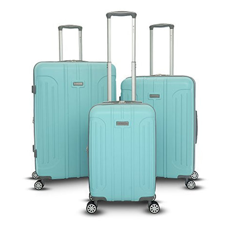 Gabbiano Viva Collection 3 Piece Hardside Expandable Spinner Set (Tiffany Blue)