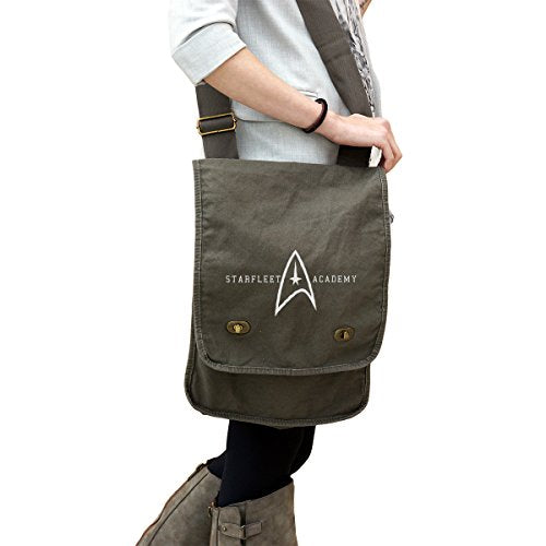 Starfleet Academy Star Trek Inspired 14 oz. Authentic Pigment-Dyed Canvas Field Bag Tote