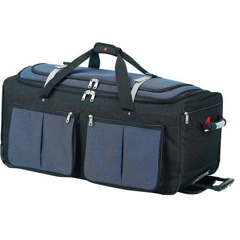"Athalon Luggage 29"" 15-Pocket Duffel, Blue/Black"