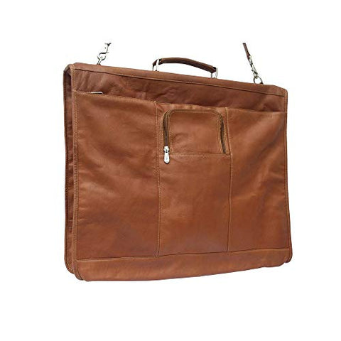 Piel Leather Piel Colombian Leather Elite Garment Bag Brown