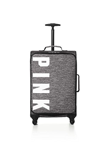 Victorias Secret Pink Wheelie Suitcase Carry On Grey Marl