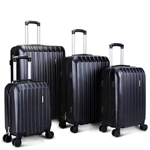 "Hardside Spinner Luggage 4 Piece Abs Luggage Set Light Travel Case -16"" 20"" 24"" 28"""