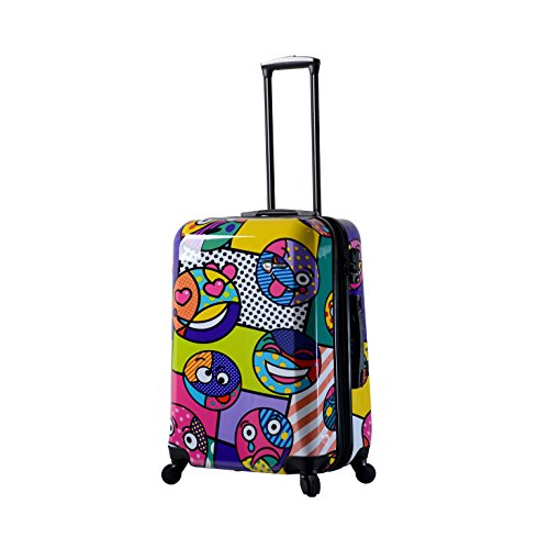 Mia Toro Italy Emojis Hardside 24 Inch Spinner, Multi-Color