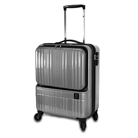 J World New York Cue Polycarbonate Hardside Carry-On Luggage, Silver