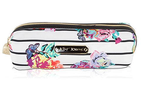 Betsey Johnson Nylon Pencil Pen School Supplies Stationary Case Pouch Bag Holder - Floral