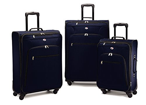 Moroccan Blue American Tourister AT Pops Plus 3pc Nested Set 21 25//Spinner 29
