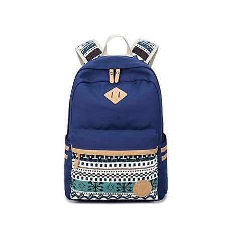 S Kaiko Canvas Backpack Casual Daypacks School Backpack For Women And Men Laptop Backpack Daypack