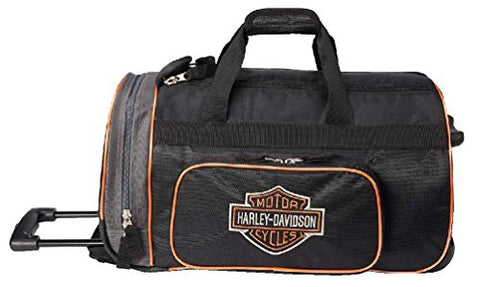 "Harley-Davidson Bar & Shield Logo 20"" Wheeling Duffel Carry-On Bag 99416-BLACK"