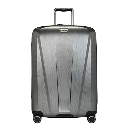 Ricardo Beverly Hills San Clemente 2.0 26-Inch Checked Suitcase (Moon Silver)