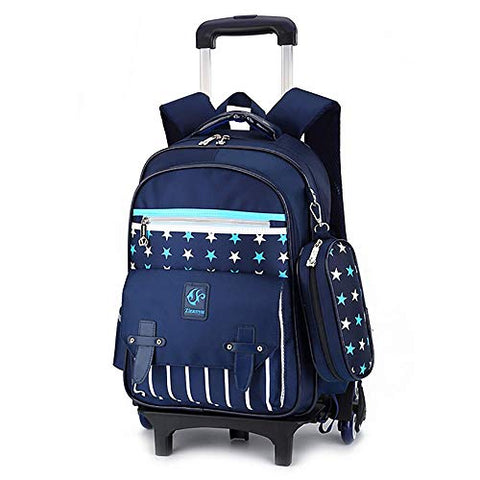 Boy Girl Wheeled Backpacks School Travel Backpack Rolling Backpack Primary Students 7-12 Years
