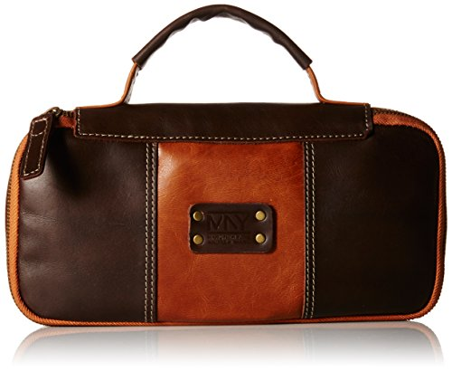 Marc New York Men's Genuine Leather Express Travel Kit, Brown/Cognac, One Size