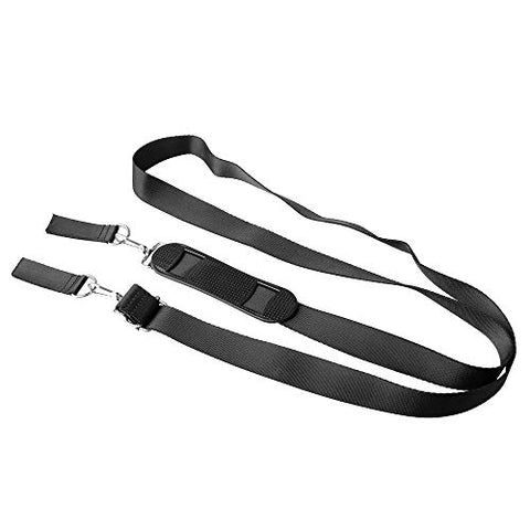 BQLZR 25MM Width Black Backpack Waist Belt Strap D Ring Buckle with Shoulder Pad for DIY Toolbox