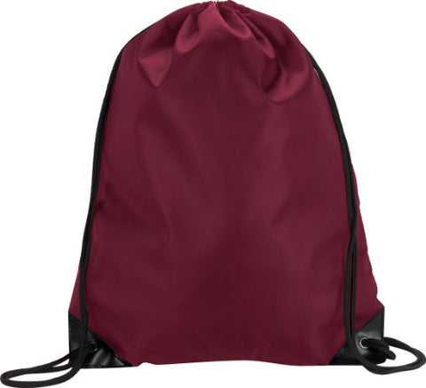Zuzify Value Nylon Cinchsack Drawstring Backpack. Pi0182 Os Maroon