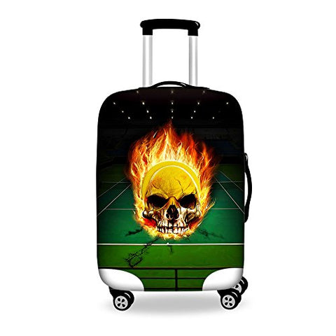Youngerbaby Skull Luggage Cover Spandex Travel Suitcase Protective 18/20/24/28 Inch