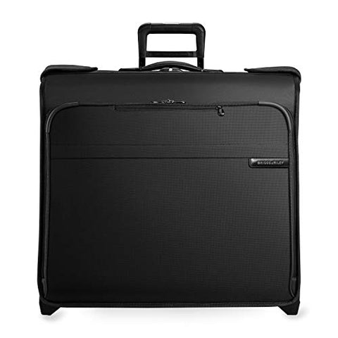 Briggs & Riley Baseline-Softside Carry-On 2-Wheel Wardrobe Bag, Black, One Size