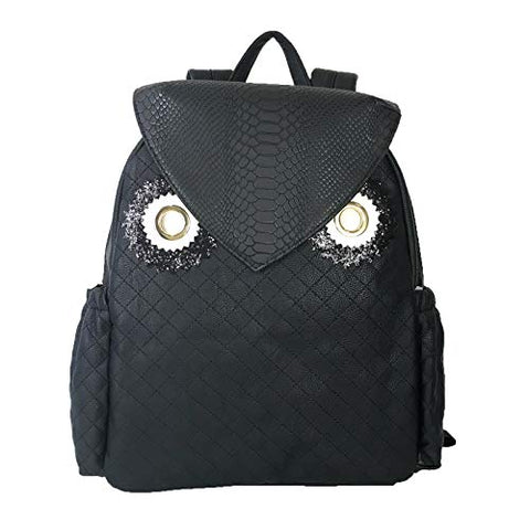 Betsey Johnson Women's Owl Backpack Black One Size