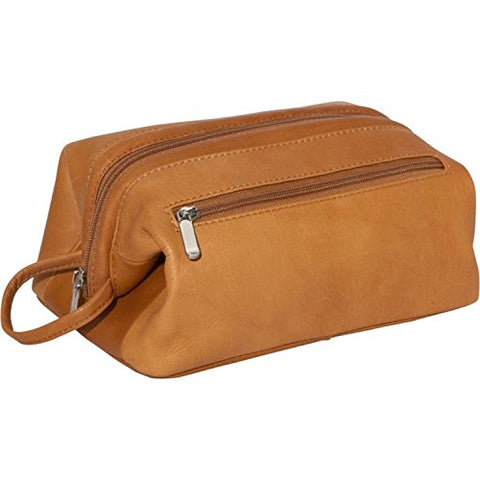 Royce Colombian Leather Toiletry Bag, Tan