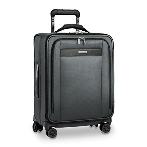 "Briggs & Riley Transcend Wide Carry-on Expandable 21"" Spinner, Slate"