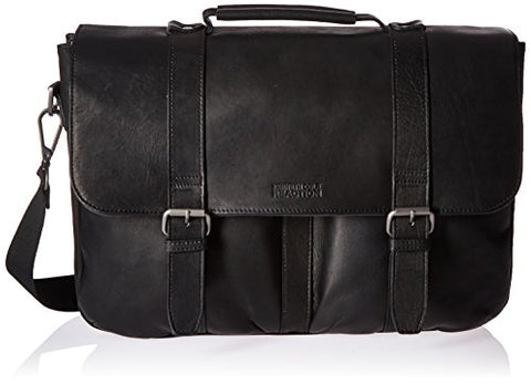 Kenneth Cole Reaction Flap-Shot Flapover Portfolio, Black