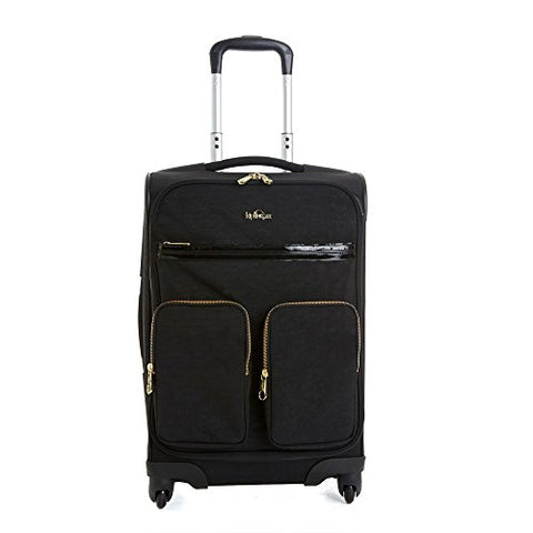 Kipling Women'S Ronan Carry-On Wheeled Luggage One Size Black Patent Combo