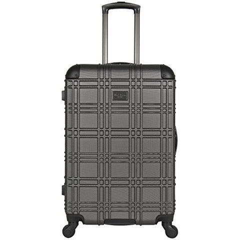 "Ben Sherman Nottingham 24"" Lightweight Embossed Pap 4-Wheel Upright Luggage, Charcoal"