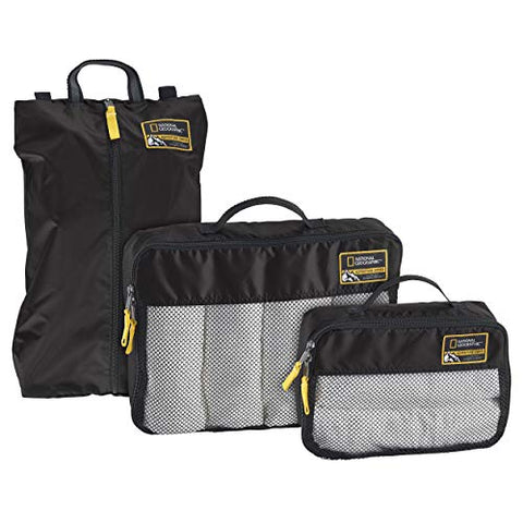 Eagle Creek National Geographic Adventure Essential Packing Set, Black