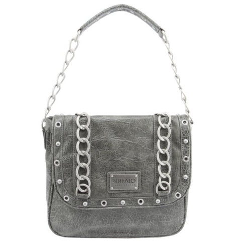 Buffalo David Bitton Angela Foldover Handbag - Grey