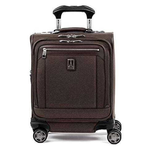 "Travelpro Luggage Platinum Elite 16"" Carry-On Spinner Tote With Usb Port, Rich Espresso"