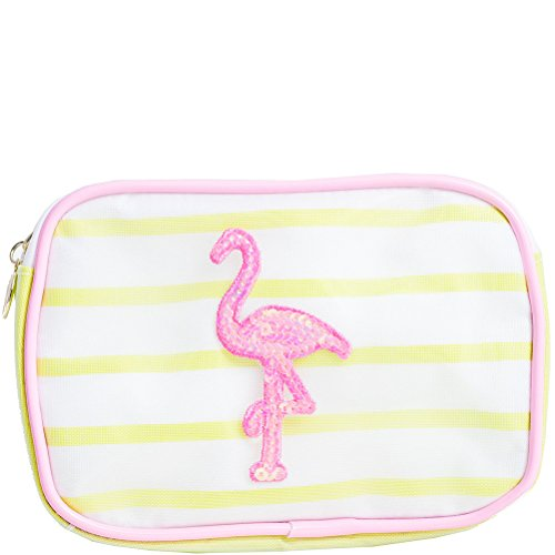 Macbeth Flamingo Mesh Cosmetic Bag - Pink