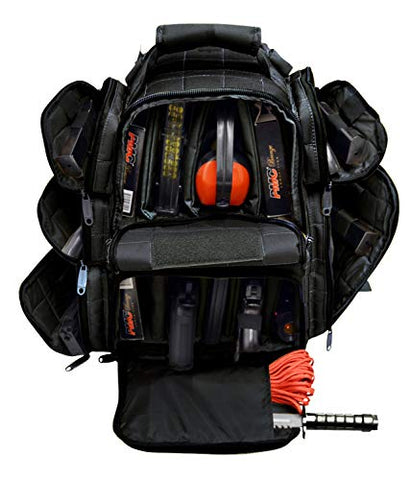 Explorer Backpack + Range Bag with Large Padded Deluxe Tactical Divider and 9 Clip Mag Holder -