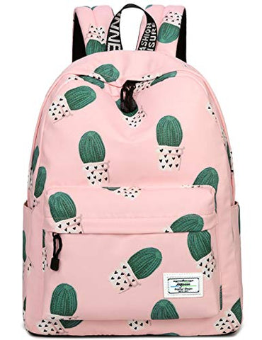 School Bookbags for Girls, Cute Cactus Backpack College Bags Women Daypack Travel Bag by Mygreen