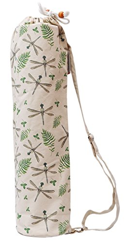 Watercolor Dragonfly Pattern Printed Canvas Yoga Mat Bags Carriers Was_41