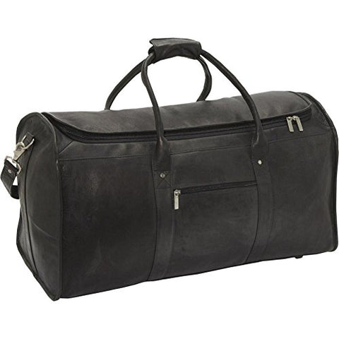 David King Leather Extra Large Duffel Bag In Black