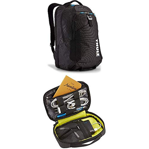 Thule TCBP-417 Crossover 32 L Backpack, Black with Thule Subterra PowerShuttle, Dark Shadow